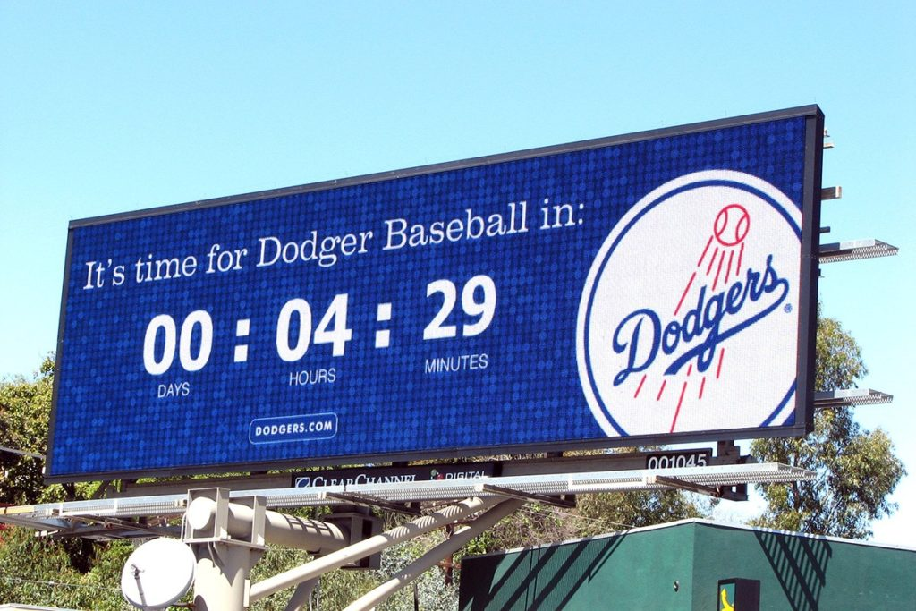 Dodgers Baseball Billboard